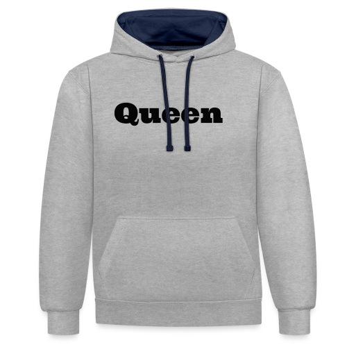 Snapback queen grijs/zwart - Contrast hoodie
