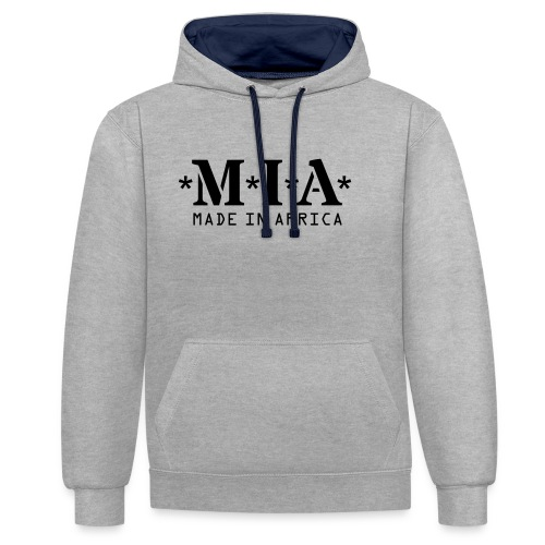 M.I.A. Made In Africa - Contrast Colour Hoodie