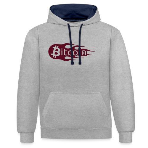 Bitcoin Flame - Kontrast-Hoodie