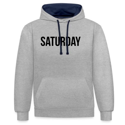 Saturday - Contrast Colour Hoodie