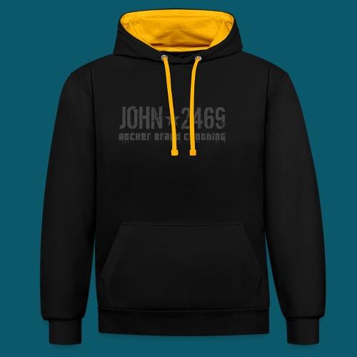 JOHN2469 prova per spread - Felpa con cappuccio bicromatica