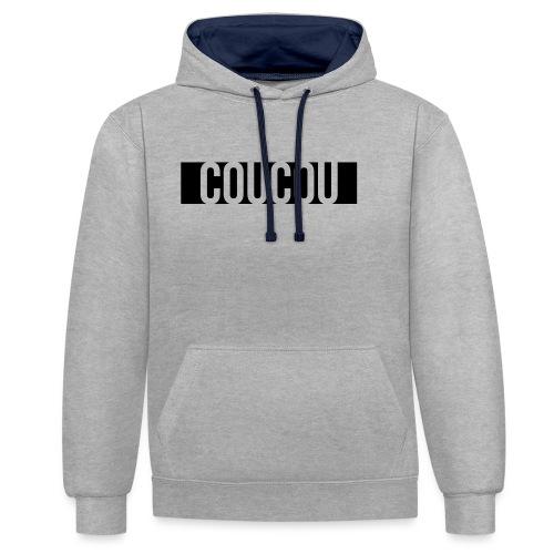 Coucou [1] Black - Sweat-shirt contraste