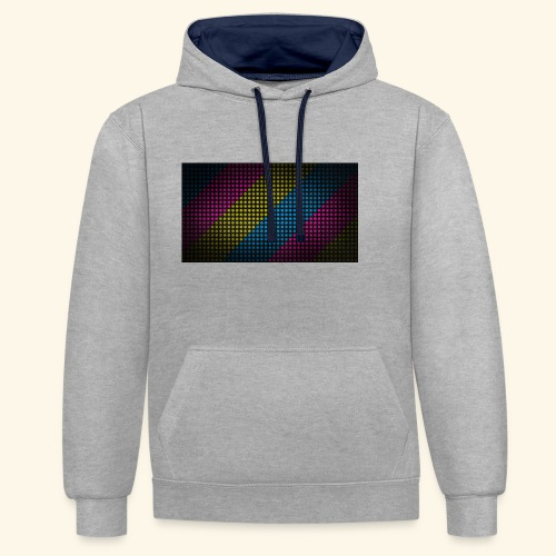 T-Shirts - Contrast hoodie