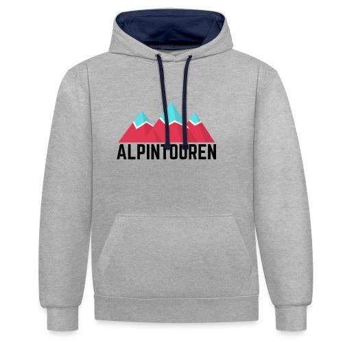 Alpintouren - Kontrast-Hoodie