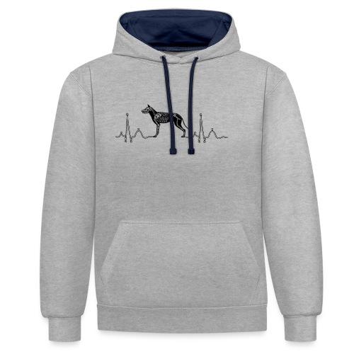 ECG met hond - Contrast hoodie