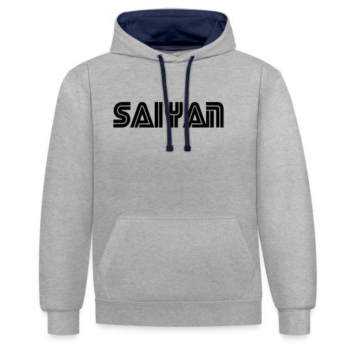 saiyan - Contrast Colour Hoodie