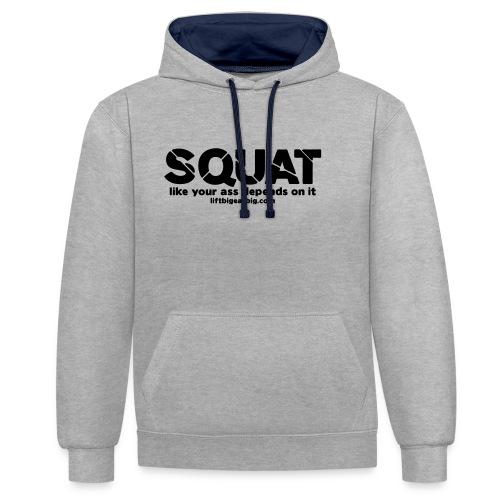 squat - Contrast Colour Hoodie