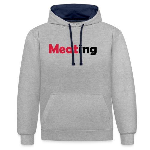 Meating - Kontrast-Hoodie