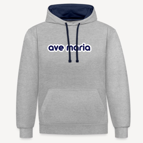 AVE MARIA - Contrast Colour Hoodie