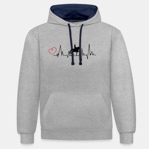 Heartbeat Dressurreiterin klassisch Herz - Kontrast-Hoodie
