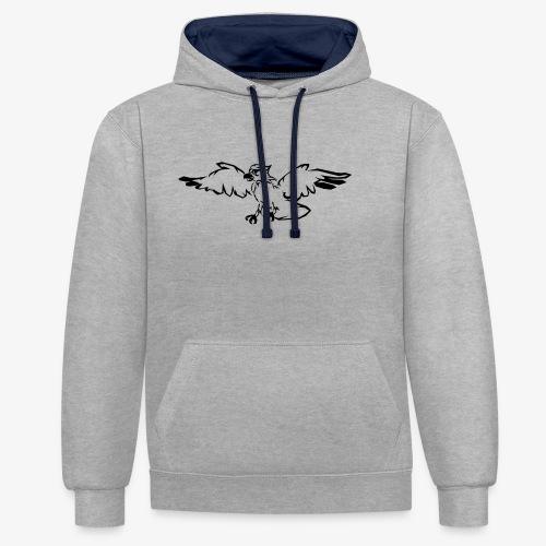 Eagle Hunt - Kontrast-Hoodie