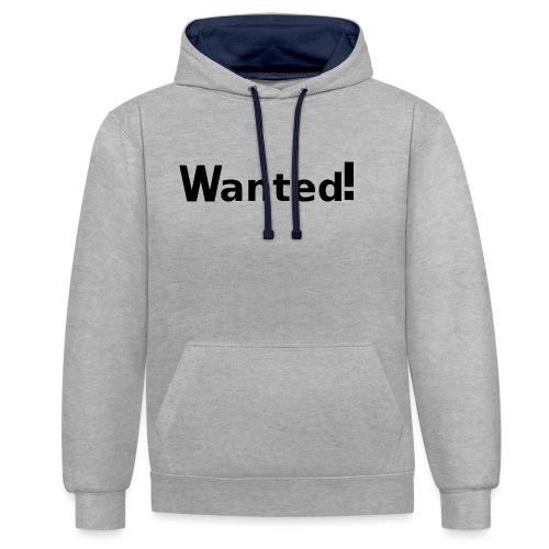 Wanted. schwarz - Kontrast-Hoodie