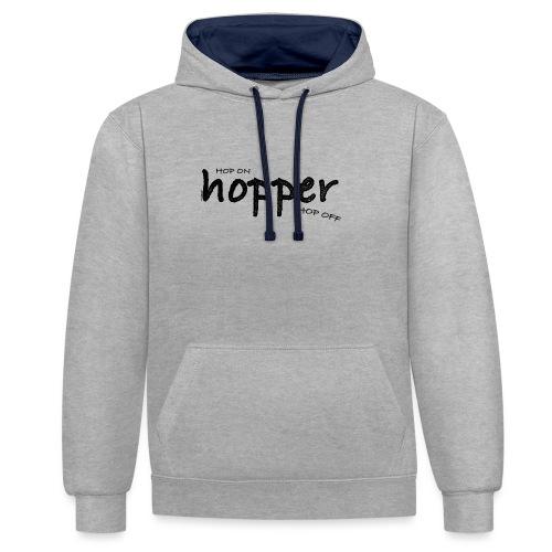 MuchoHop Hop On/Off (black) - Sudadera con capucha en contraste