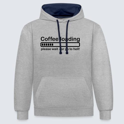 Coffee loading - Kontrast-Hoodie