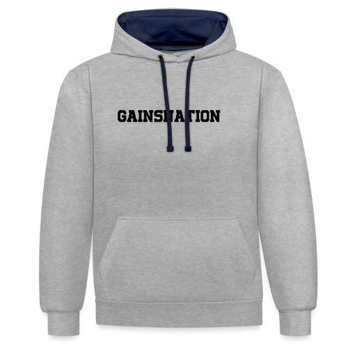 Kortärmad tröja Gainsnation - Kontrastluvtröja
