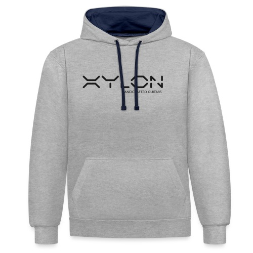 Xylon Handcrafted Guitars (plain logo in black) - Contrast Colour Hoodie