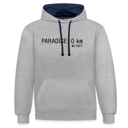 paradise0km - Kontrast-Hoodie