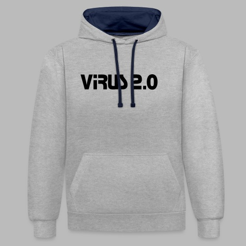 virus2 0 - Sweat-shirt contraste