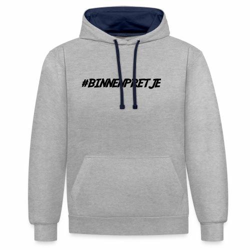 #binnenpretje pet - Contrast hoodie
