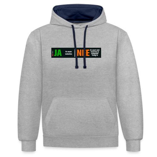 Ja ik maak websites - Contrast hoodie