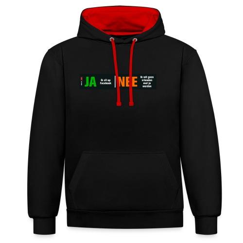 facebookvrienden - Contrast hoodie