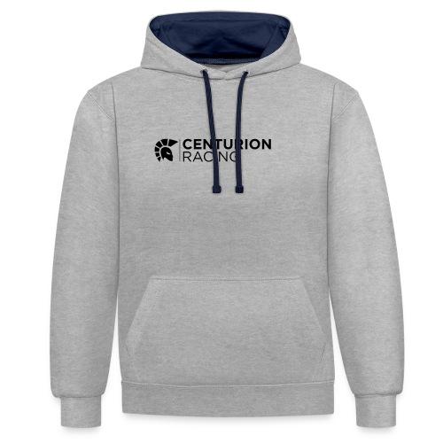 Centurion Racing Logo - Contrast Colour Hoodie