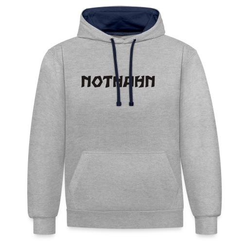 nothahn7 - Kontrast-Hoodie