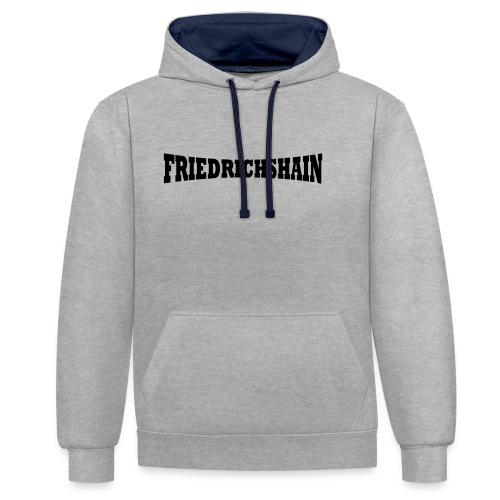 Friedrichshain Schriftzug - Kontrast-Hoodie