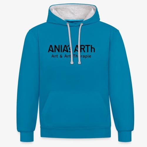 ANIA's ARTh Logo - Kontrast-Hoodie