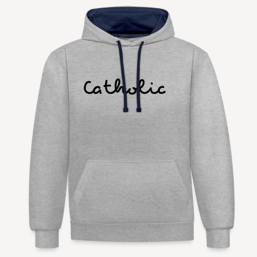 CATHOLIC - Contrast Colour Hoodie