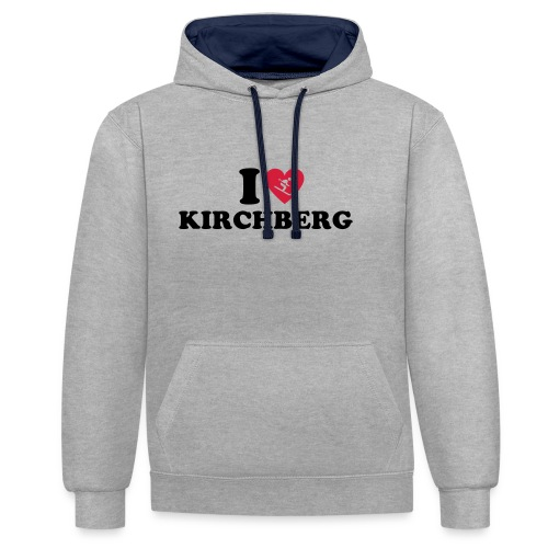 I love Kirchberg - Contrast hoodie