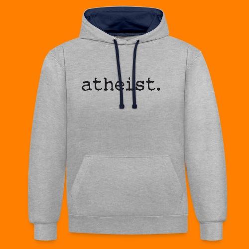 atheist BLACK - Contrast Colour Hoodie
