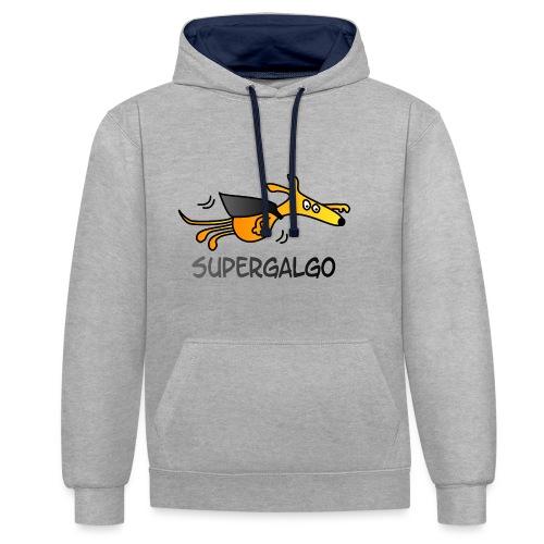 Supergalgo - Kontrast-Hoodie
