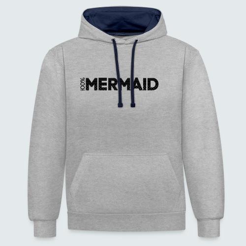 100%Mermaid - Kontrast-Hoodie