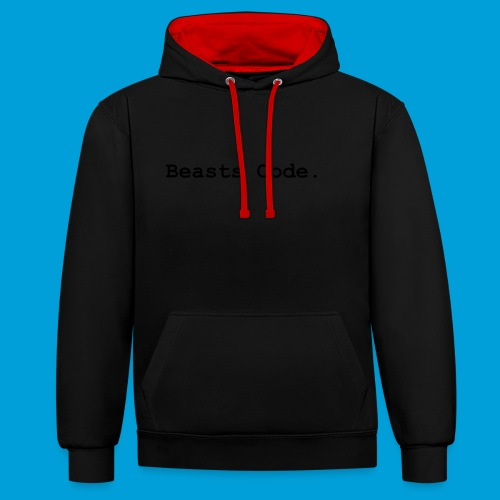 Beasts Code. - Contrast Colour Hoodie