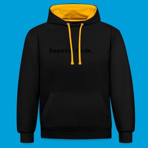 Beasts Code. - Contrast Colour Hoodie