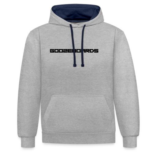 GOOZEBOARDS LETTERS - Contrast hoodie