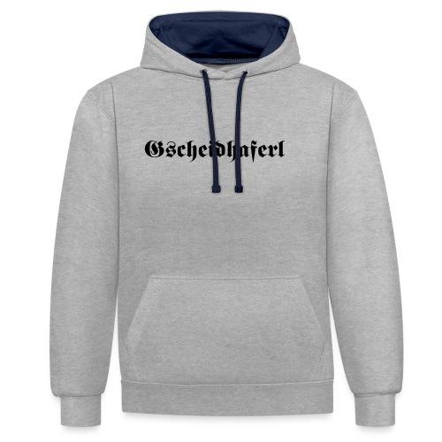 Gscheidhaferl - Kontrast-Hoodie