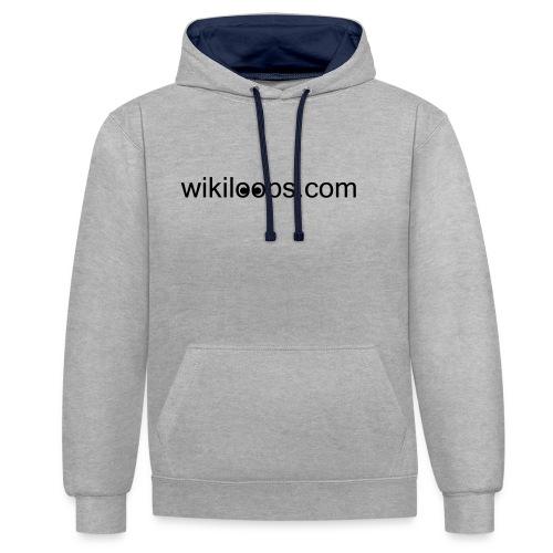 vectorwikiloops - Contrast Colour Hoodie