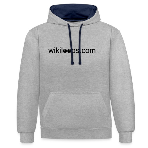 wikiloops_logo_long_AI - Contrast Colour Hoodie