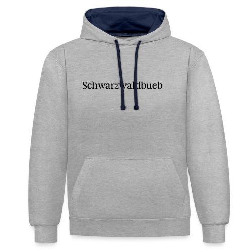 Schwarwaödbueb - T-Shirt - Kontrast-Hoodie