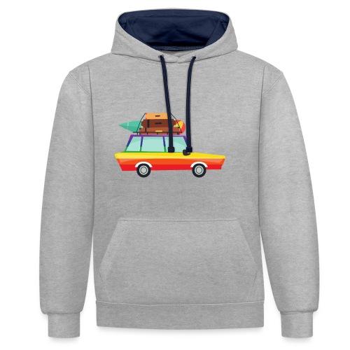 Gay Van | LGBT | Pride - Kontrast-Hoodie