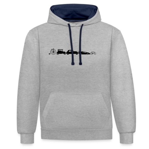 evolution of vechicles - Contrast hoodie