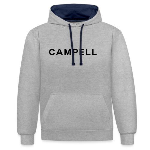 campell schriftzug2 - Kontrast-Hoodie