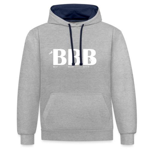 Best Belay Bitch - Kontrast-Hoodie