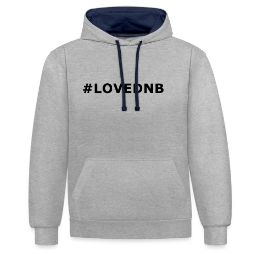 Hashtag LoveDnB - Contrast Colour Hoodie