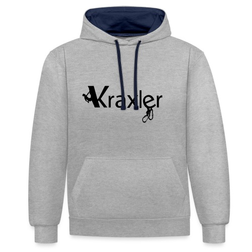 Kraxler - Kontrast-Hoodie