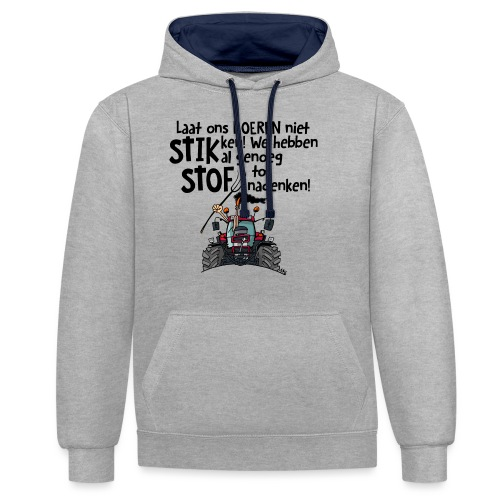 0505 stikstof - Contrast hoodie