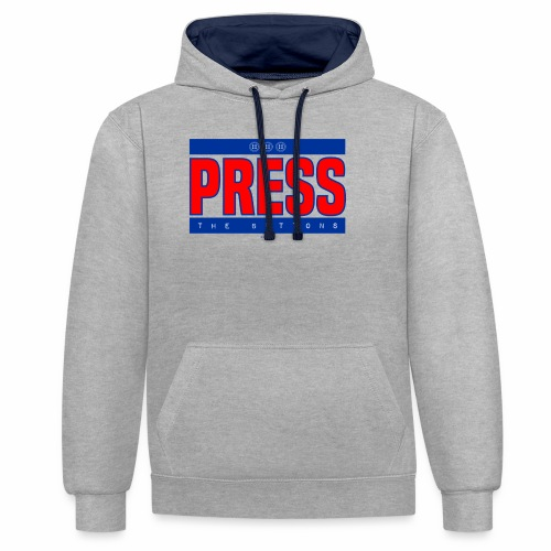 Press the buttons - Contrast hoodie