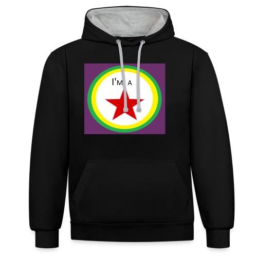 I'm a STAR! - Contrast Colour Hoodie